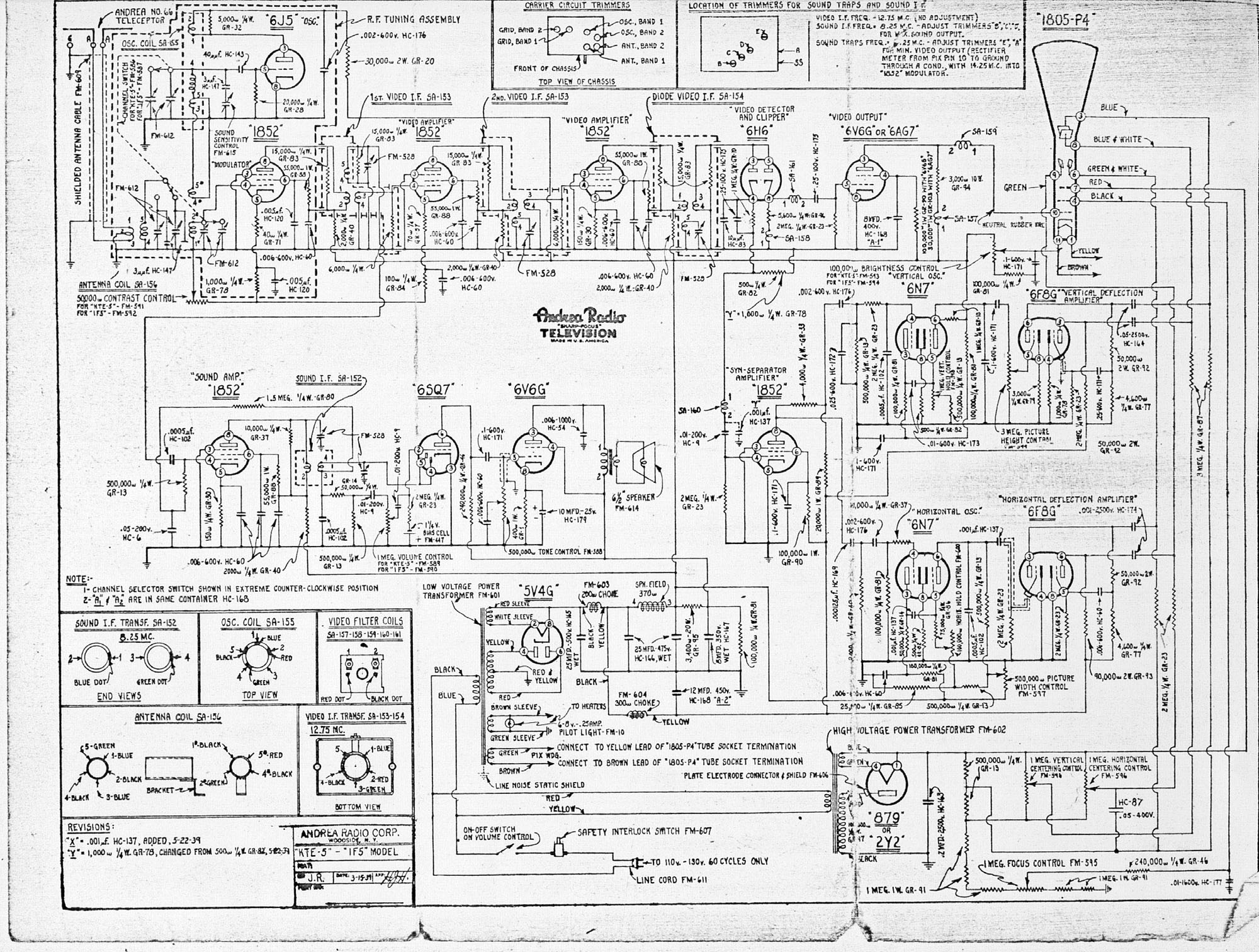 television technical data pre 1945 rh earlytelevision org television schematic diagrams download tv circuit diagrams free download