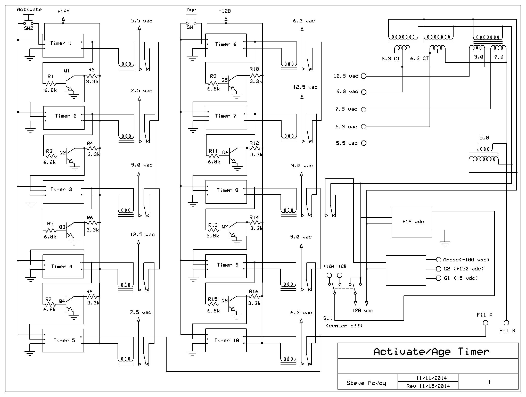 Crt Rebuilding Project Wiring Diagram Cathode Activation Ageing Here Is A Schematic