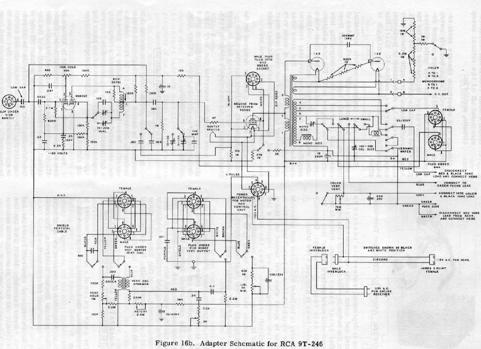 Television Technical Data Color Sets Meyer Plow Wiring Diagram 68 Rx 41 Adapter Schematic 35