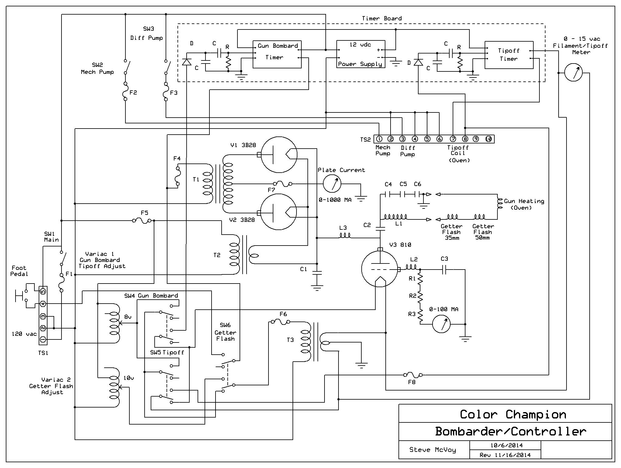 Crt Rebuilding Project Coil Gun Circuit Diagram Here Is A Revised Schematic