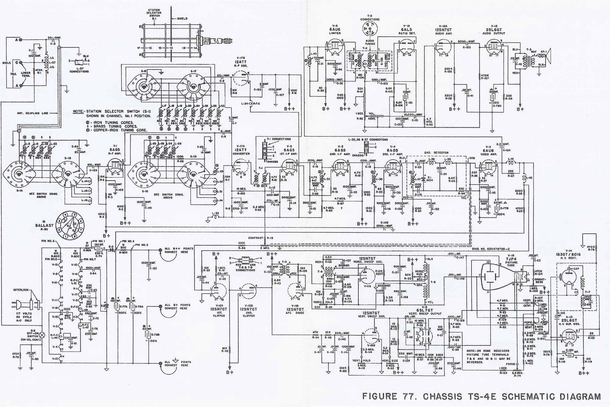 Television Technical Data Postwar Black And White Moto G Circuit Diagram Ts 4e Schematic 2